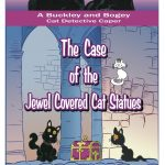 The Case of the Jewel Covered Cat Statues, guest review + giveaway